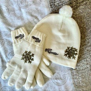 Roots snowflake Hat and gloves set